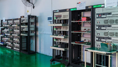 battery age testing room and machine