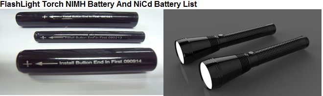 NiCd 6.0V 1/2D2500mAh Rechargeable Flashlight Battery High Cap UL