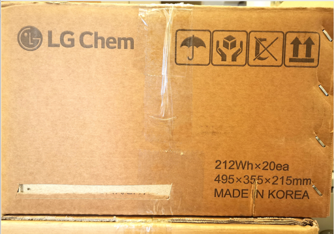 Original LG N21 60Ah Lithium Ion Polymer Battery Pack For Electric Vehicles ESS with KC CB UL