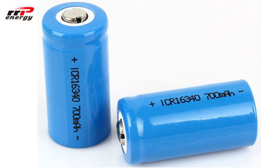 Cylindrical Rechargeable Li Ion Battery Pack 3.7V 16340 700mAh Long Lifespan