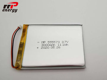 MSDS UN38.3 CE CB 3.7V 3000mAh Lithium Ion Polymer Rechargeable Battery