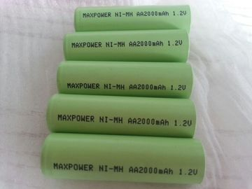 AA2000mAh NIMH Rechargeable Batteries 1000  Cycles IEC  CE UL