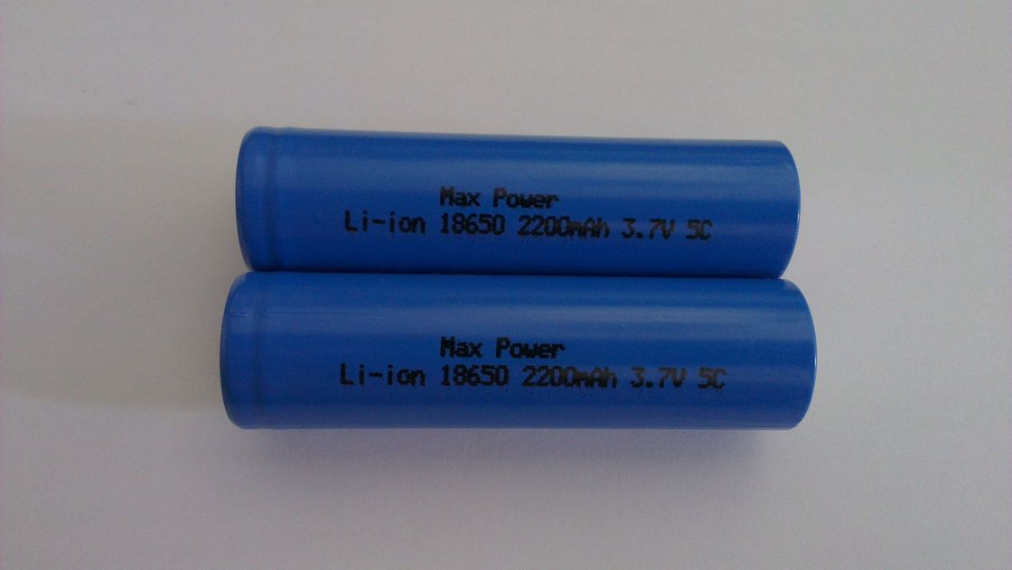 18650 2200mAh 3.7V Lihtium Ion Rechargeable Batteries High Rate 5C 10C CE UL