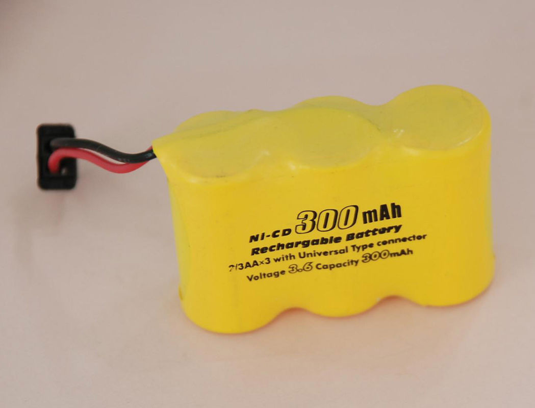 High Voltage 2/3AA 300mAh Nicd Battery Packs With Universal Connector