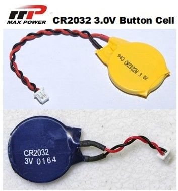 CR2032 3V Primary Lithium Battery 210mAh , High Voltage Button Cell
