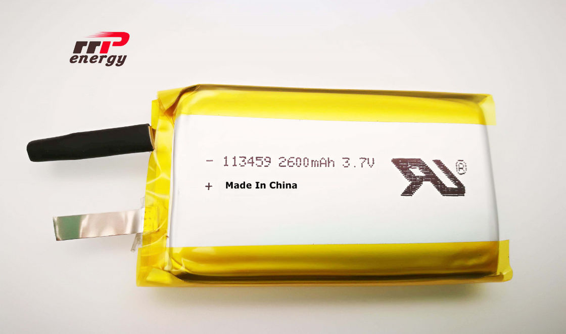 UL1642 Hand Warmer Lithium Ion Polymer Battery Pack 2600mAh 3.7V 113459 Durable