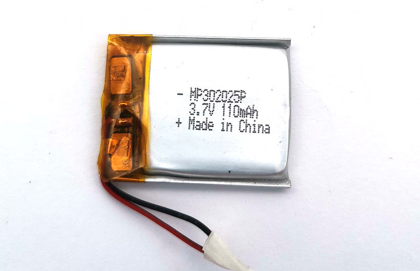 Pendant Pager Lithium Polymer Battery 110mAh Size 302025P With KC CE UL CB ROHS Approval