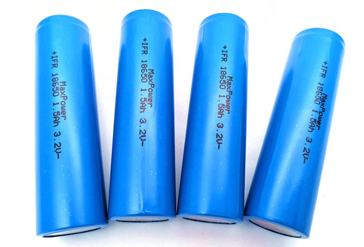 1KHz 3.2V 1500mAh Rechargeable LiFePO4 Battery IFR18650 For Emergency Lighting with KC CB UL