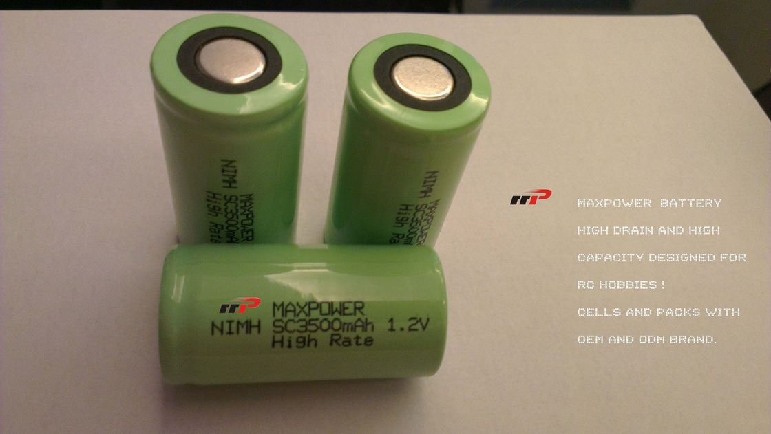 SC3500mAh 1.2V NIMH Rechargeable Batteries R/C CARS HELICOPTER