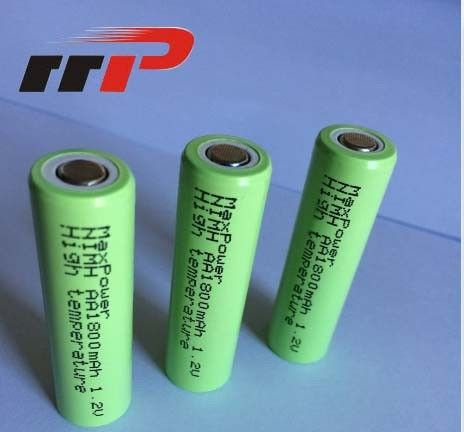 High Drain Rechargeable NIMH Batteries Flat Top 1.2V High Temperature