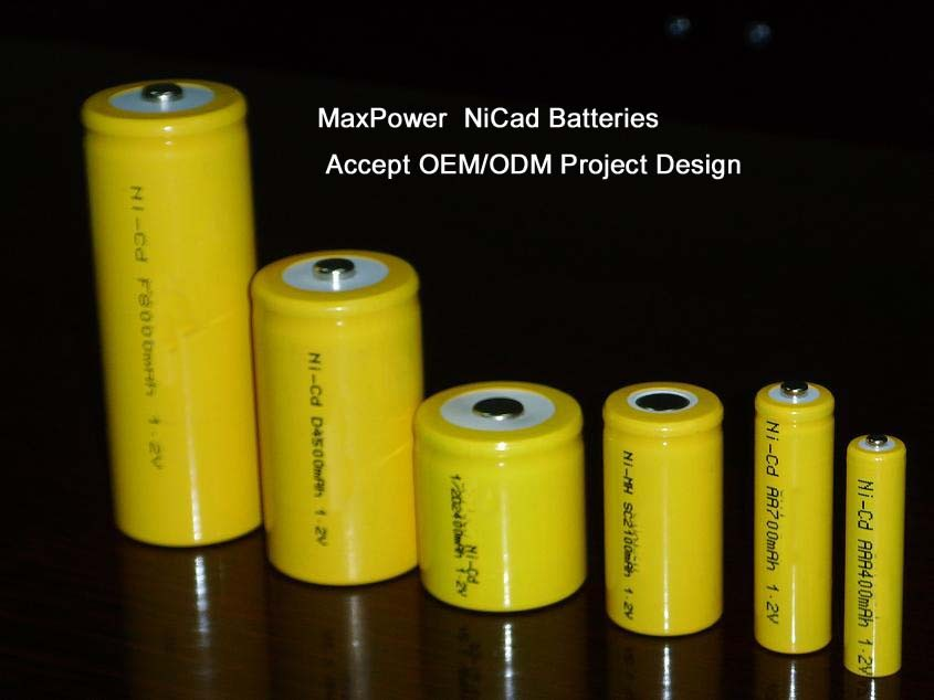 Customized NiCd Rechargeable Batteries