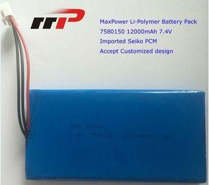 China 7.4V 12000mAh 7580150 Ultra Thin Lithium Polymer Battery High Capacity distributor