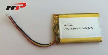 China 3.7v Lithium Polymer Battery Pack 820mAh , Lithium Polymer Car Battery distributor