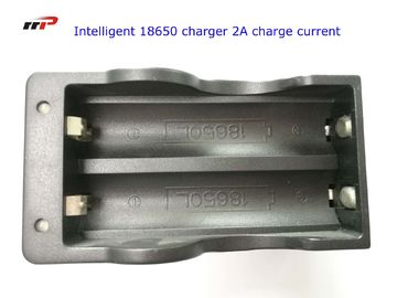 China 2 Slots 18650 Intelligent Battery Charger Led Display Fast Charging UL CE KC distributor