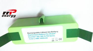 China 25ohm Li Ion Rechargeable Batteries 14.4V 4.4Ah For Vacuum Cleaner Roomba Sweeper distributor