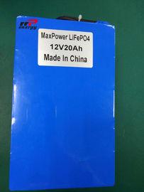 China 12V 20Ah Lithium LiFePO4 Battery storage power UPS backup Solar System distributor