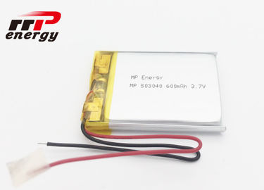 China Long Lifespan Lithium Polymer Battery 3.7V 600mAh CE CB UL IEC62133 KC BIS distributor