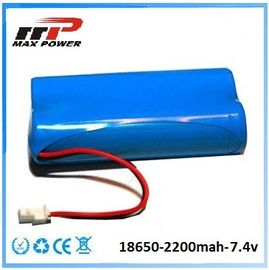 China Medical Device 18650 2200mAh 7.4V Lithium Ion Rechargeable Batteries CE Rohs factory