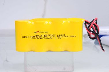 China Emergency Lighting Battery NiCad D4000mAh 4.8V 70 Degree CE distributor