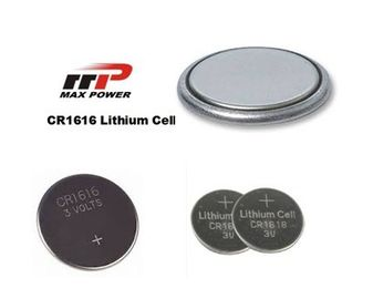 China Non-toxic CR1616 3.0V Primary Lithium Battery LiMnO2 50mAh For Music Cards distributor