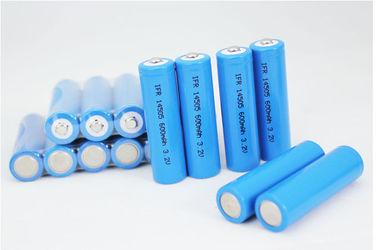 China Solar Lamp AA 3.2V Lithium LiFePO4 Battery , 600mAh Batteries ROHS distributor
