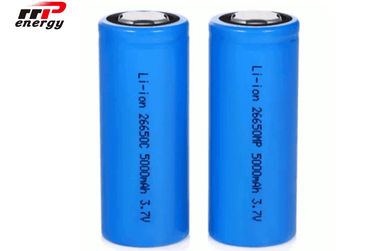 China 3.7V 26650 5000mAh Lithium Ion Rechargeable Batteries High Rate CB distributor