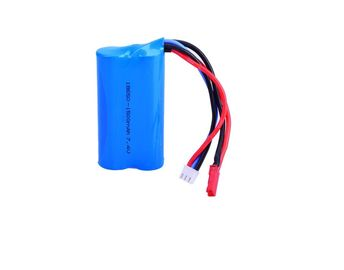 China 7.4V 18650 1500mAh Lithium Ion Rechargeable Batteries 15C Discharge Rate For Aeromodel / Electric Toy factory