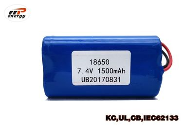 China 7.4V 1500mAh Rechargeable Li Ion Battery Pack INR18650 With UL KC CB PSE Approval factory