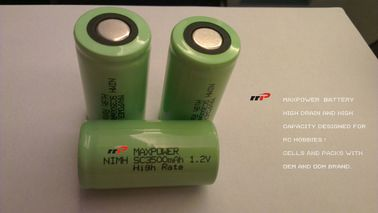 China SC3500mAh 1.2V NIMH Rechargeable Batteries R/C CARS HELICOPTER distributor