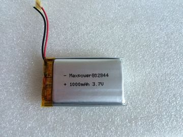 802844 1000mAh 3.7V Lithium Ion Polymer Batteries IEC62133 Medical Device