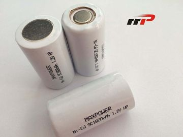 China NiCd Rechargable Batteries High Rate SC 1800mAh High power distributor